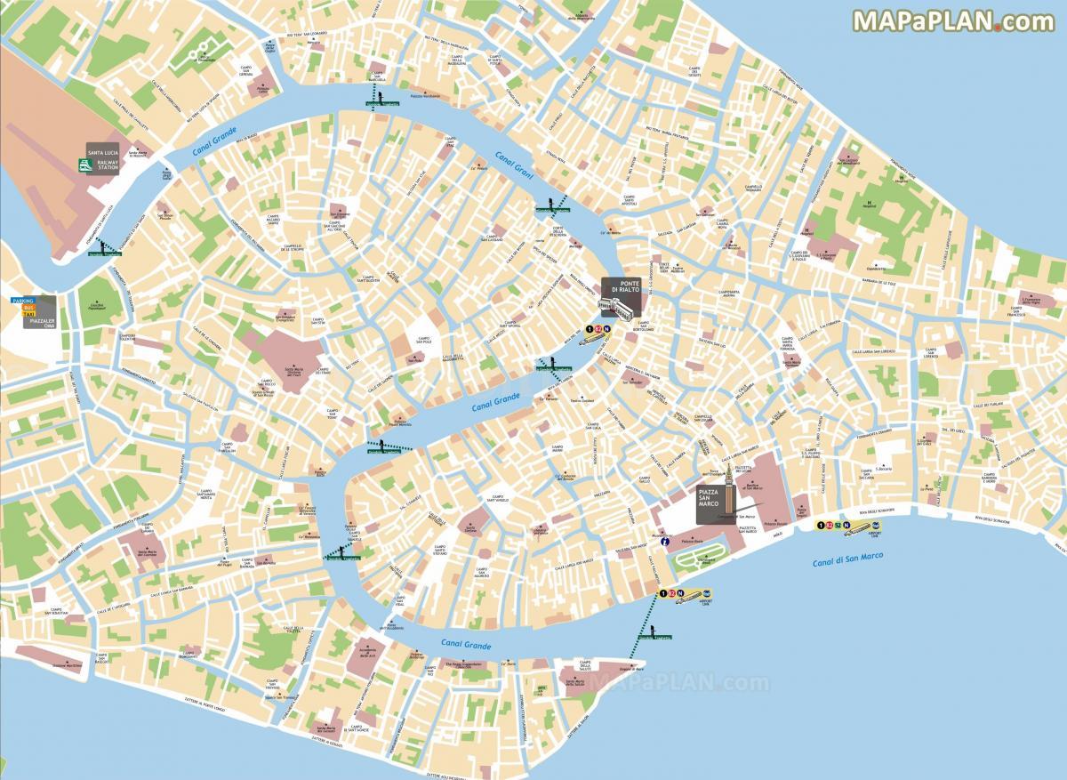 velence térkép Traghetto útvonalak Velence térkép   Térkép traghetto útvonalak